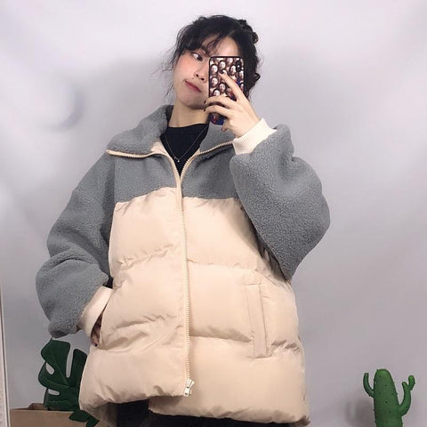OVERSIZE FAUX FUR WARM OUTWEAR JACKET