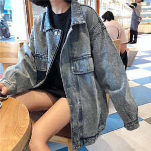 OVERSIZED VINTAGE OUTWEAR DENIM JACKET