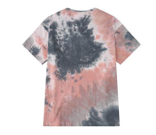 PASTEL COLORS TIE DYE PATTERN OVERSIZED T-SHIRT