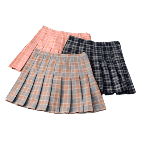 PLAID CUTE SCHOOL STYLE PLEATED SKIRT
