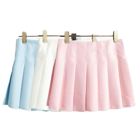 PLEATED PREPPY STYLE MINI SKIRT