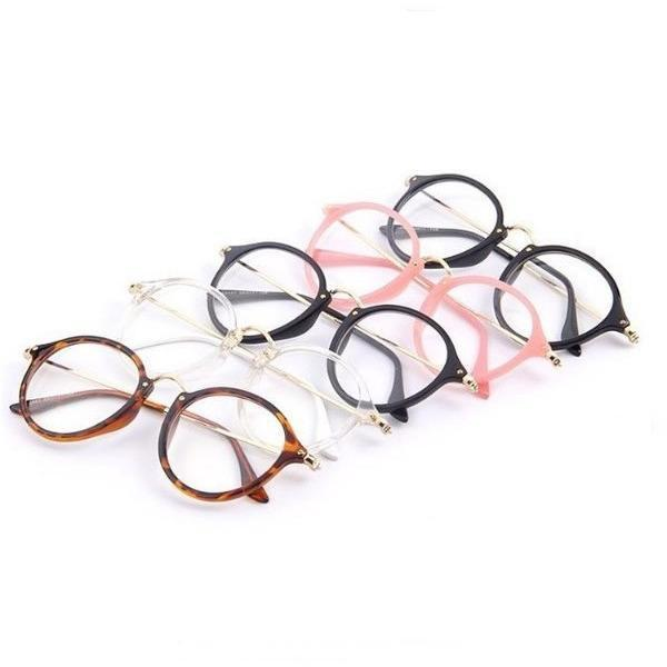 ROUND CLEAR AESTHETIC GLASSES