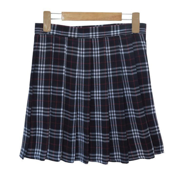 SCHOOL TARTAN PLAID PLEATED COLLEGE SKIRTS