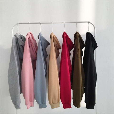 SEVEN COLORS OVERSIZED FRONT POCKET LONG SLEEVE HOODIE