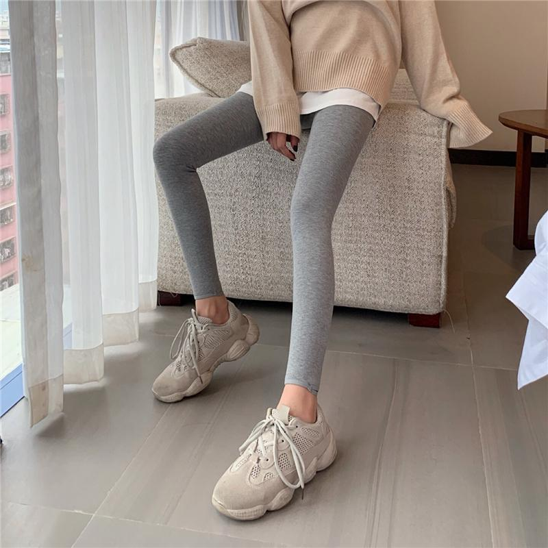 SLIM SPORTY VELVET INSIDE ELASTIC LEGGINGS PANTS