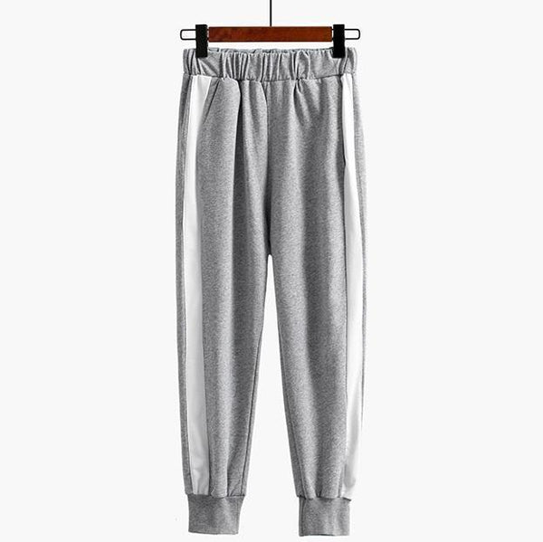 SPORT STYL SIDE WHITE LINE LONG ELASTIC PANTS