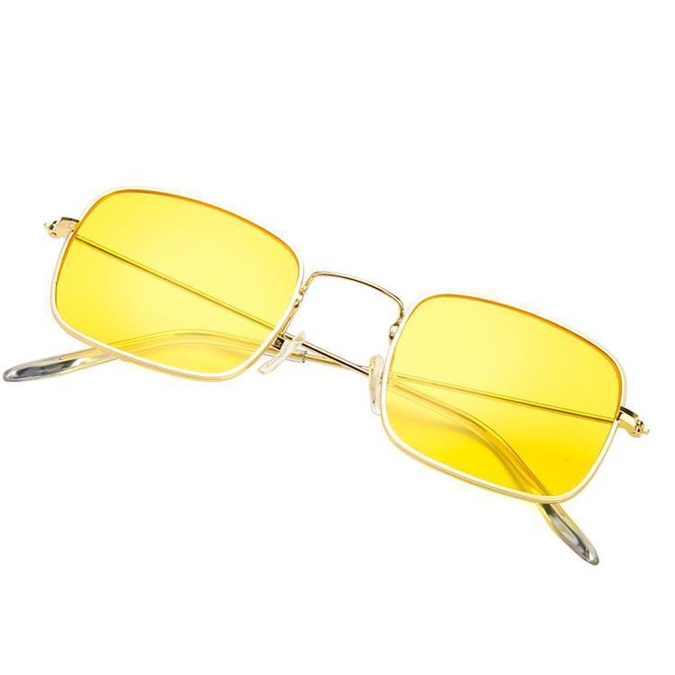 SQUARE COLORFUL METALLIC FRAME KOREAN SUNGLASSES
