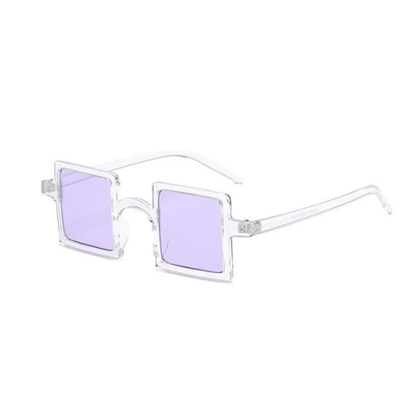 SQUARE SHAPE PLASTIC FRAME COLORFUL SUNGLASSES