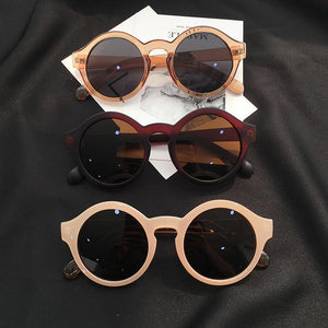 STYLISH BOLD COLORFUL FRAME ROUND SUNGLASSES