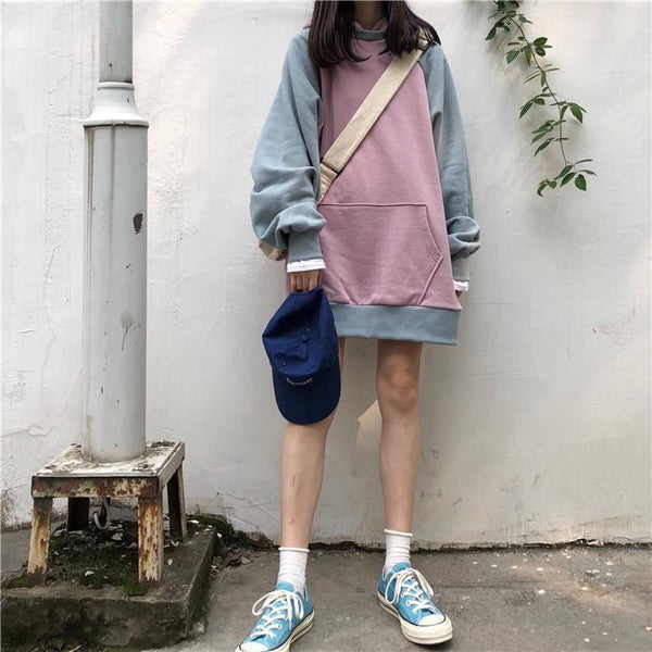 SWEET PASTEL COLORS AESTHETIC OVERSIZED HOODIE