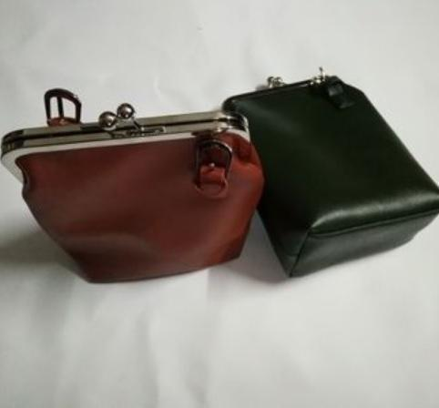 THIN BLACK LEATHER SHOULDER PURSE BAG