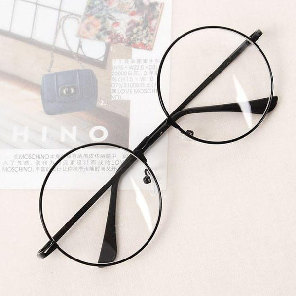 TRANSPARENT CIRCLE ROUND METALLIC FRAME KOREAN CLEAR POTTER GLASSES