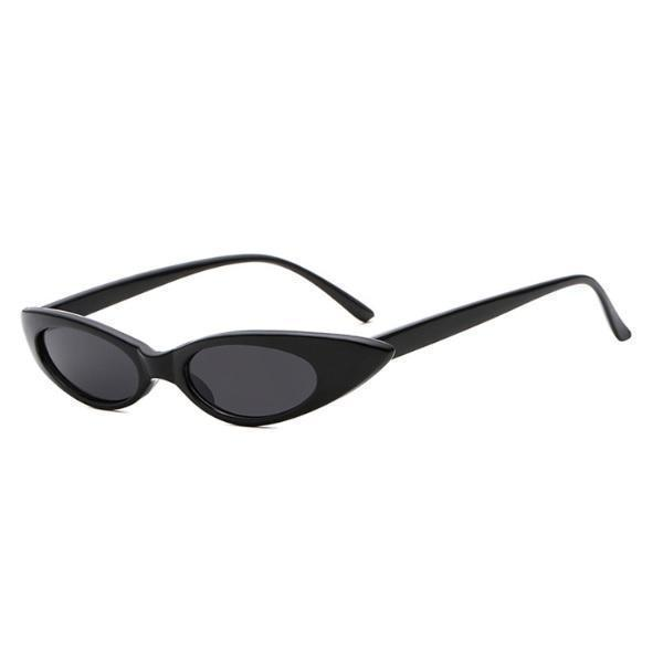TRENDY NARROW POINTY PLASTIC FRAME SUNGLASSES