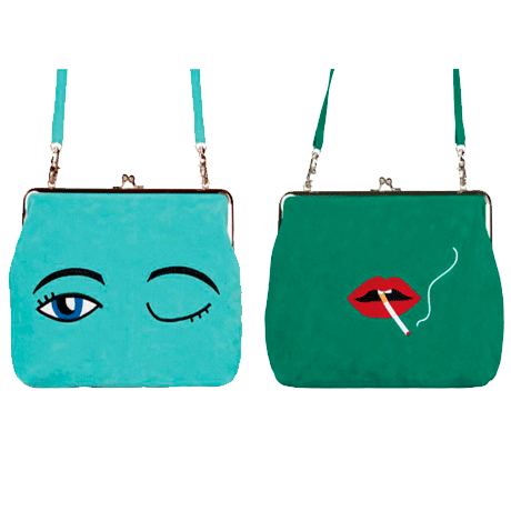 VELVET EMBROIDERY SHOULDER BAG