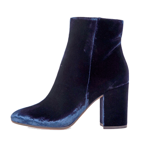 VELVET SHINY HIGH ANKLE BOOTS