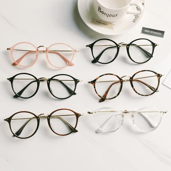 VSALE ROUND CLEAR AESTHETIC GLASSES