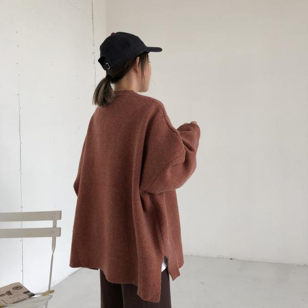 WARM OVERSIZE HUGE SOLID COLORS SWEATER