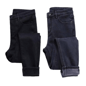 WARM WINTER JEANS WITH VELVET INSIDE