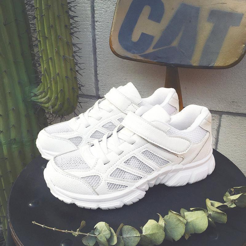 WHITE AND PINK VERSION SPORTISH MESH RUN SNEAKERS