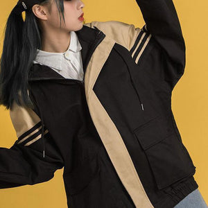WINBREAKER 90s OVERSIZED ZIPPER HOODED JACKET