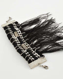 GOTHIC STEAM PUNK FEATHER BRACELET