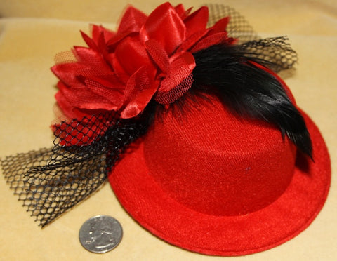 GOTHIC LOLITA PILL BOX FEATHER HAT