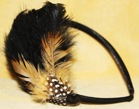 BURLESQUE FEATHER HEAD BAND
