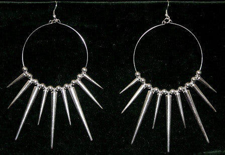 Sexy Spike Hoop Earrings