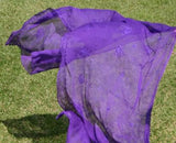 SHORT PURPLE TRIBAL BELLY DANCE SCARF WRAP VEIL