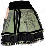 GREEN LOLITA TRIBAL BURLESQUE GOTHIC STEAM PUNK MINI SKIRT