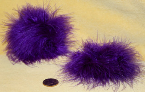 BURLESQUE FEATHER HAIR BAND CUFFS