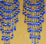 Blue Long Glass Chandelier Earrings
