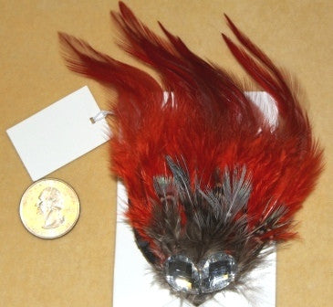 RED GOTHIC BURLESQUE HAIR CLIP