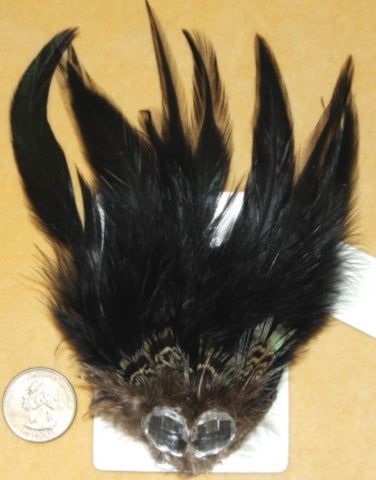 BLACK GOTHIC BURLESQUE HAIR CLIP