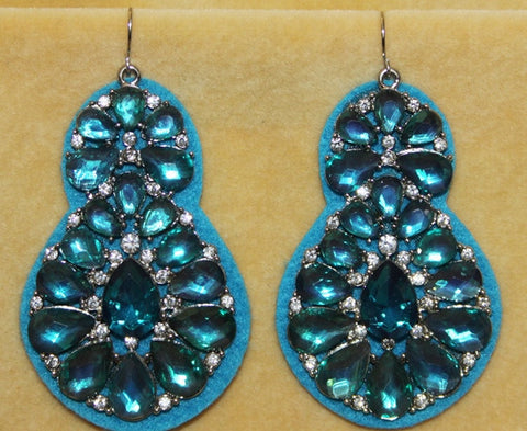 Cabaret Cocktail Rhinestone Earrings