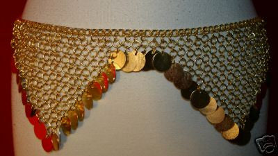 GOLD RENAISSANCE CHAINMAIL BELLY DANCING BELT