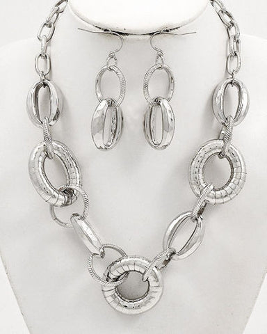 INDUSTRIAL LINK STEAM PUNK CHOKER & EARRING SET