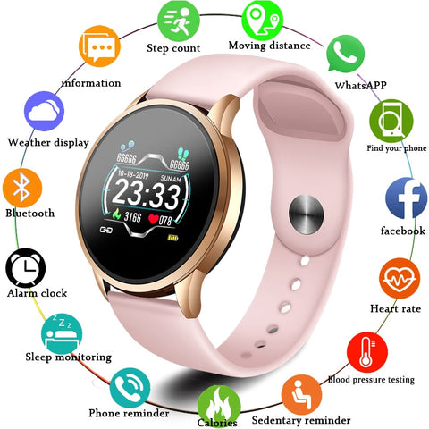 Waterproof Smart Bracelet Screen heart rate Monitor  Sport smart watch Women
