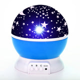 Moon Star LED Projector Nightlight Lamp For Children Kids Baby Bedroom Nursery Gifts