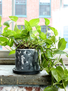 Gray Blizzard Planter