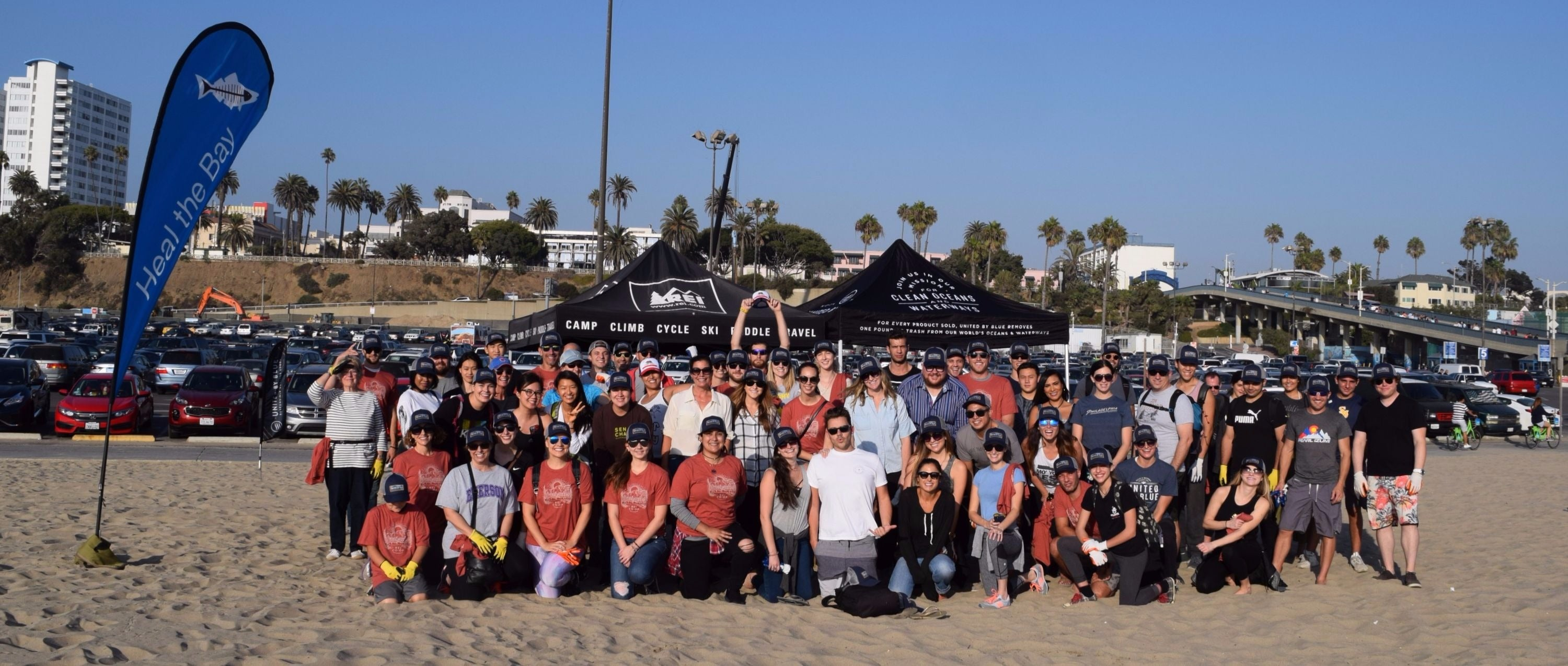 Santa monica beach cleanup