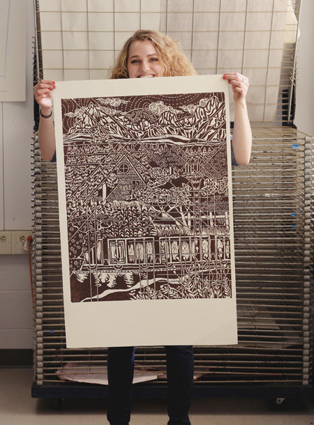 the final woodcut print