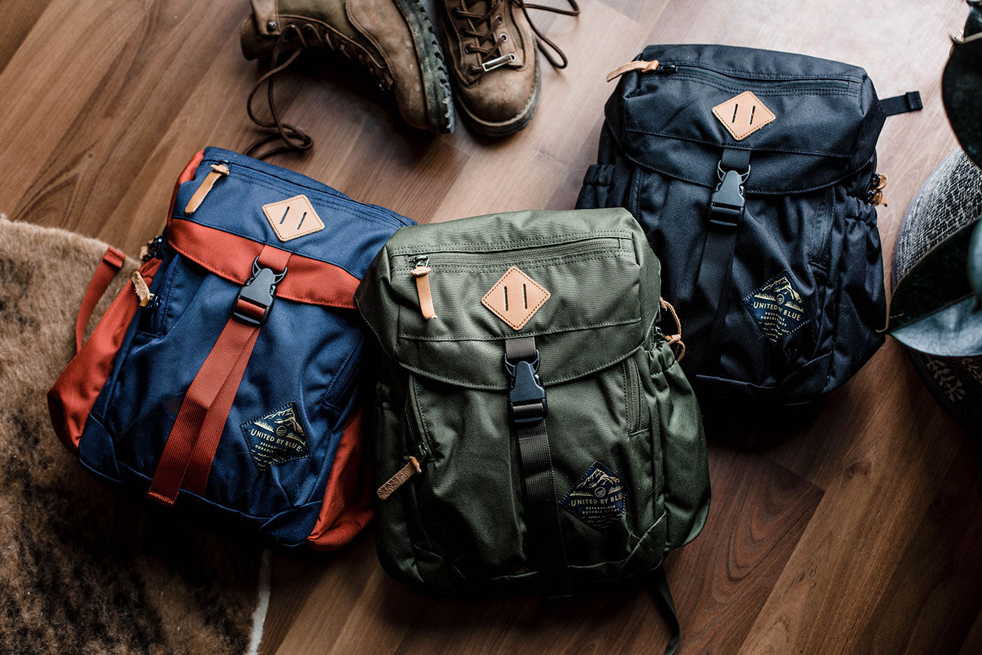 united by blue bluff backpack