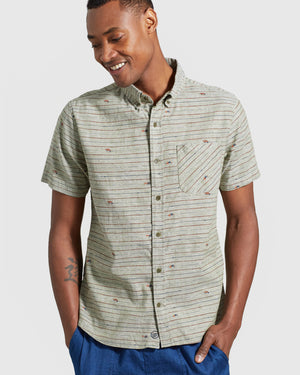 SoftHemp™ Chambray Short Sleeve Button Down
