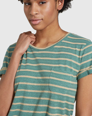 Women's SoftHemp™ Striped Pocket Tee