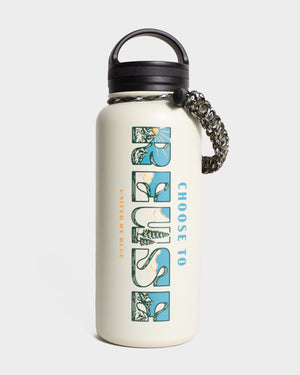 Choose To Reuse 32 oz. Insulated Steel Water Bottle
