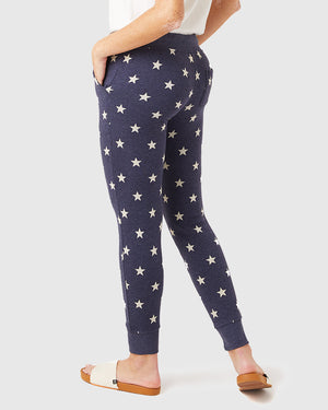 Women's Printed Eco-Fleece Jogger Pants