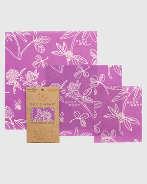 Clover Print Reusable Food Wrap 3-Pack