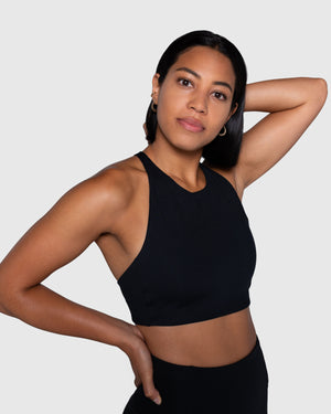 Girlfriend Collective Topanga Bra - Black