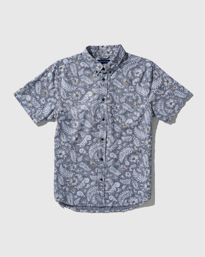 SoftHemp™ Chambray Short-Sleeve Button Down